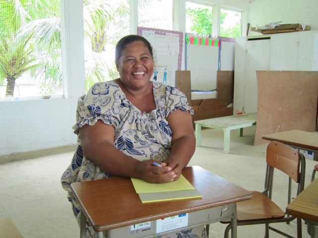 Nancy Seymour, principal and 1st-2nd grade teacher on Eot. Photo: Prairie Summer/Inveneo