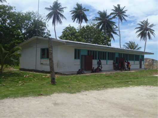 A school in Chuuk, Micronesia
