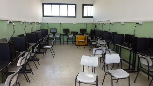 Computer lab at the Salfit Secondary Industrial School, one of the TVET schools connected by Inveneo. Photo: Bob Marsh