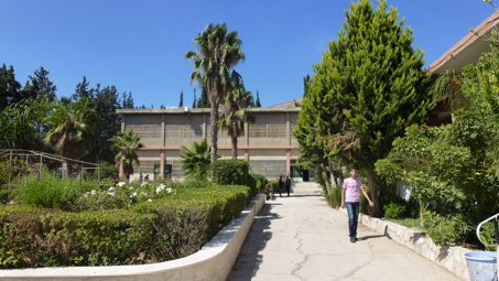 The campus of Nablus Industrial Secondary School, waiting for students to return. Photo: Bob Marsh