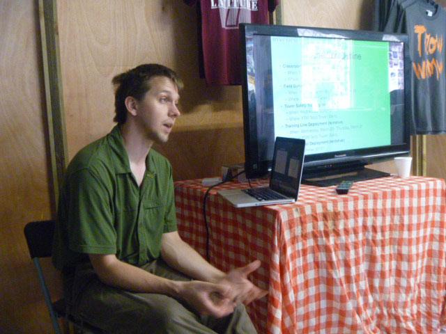 Bjornson leads the classroom portion of our local partner training program. Photo: Prairie Summer / Inveneo